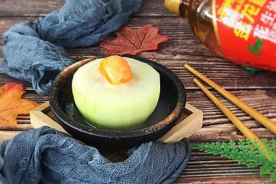 蛋黄蒸酿节瓜#金龙鱼舌尖美味·油你掌勺#