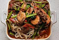牛肉海鲜炒米粉的做法