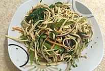 豆腐丝拌春菜的做法