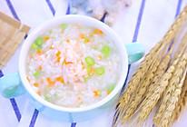 时蔬鲜虾粥  宝宝辅食食谱的做法