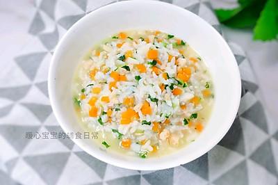 11M+杂蔬虾仁汤饭:宝宝辅食营养食谱菜谱