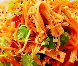 #舌尖上的端午#胡萝卜凉拌金针菇的做法
