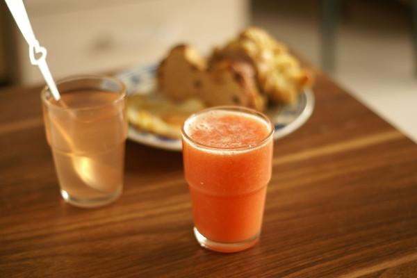 西红柿冬瓜橙汁的做法