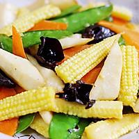 玉米笋炒时蔬的做法图解9