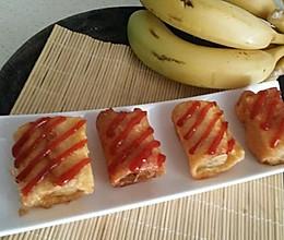 香蕉土司卷的做法