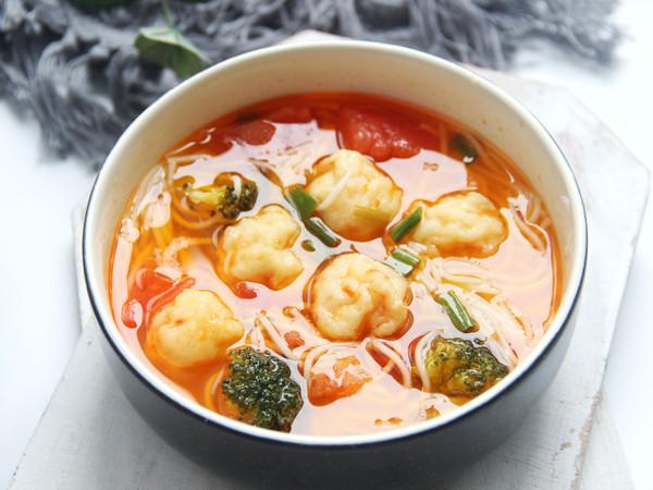 番茄鱼丸面(附鱼丸做法)