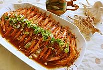 蒜蓉开边虾的做法