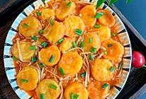 日本豆腐番茄金针菇的做法