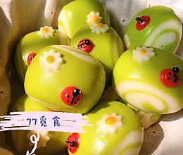 春意盎然~菠菜馒头的做法