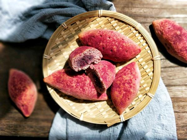 仿真紫薯全麦餐包#春季减肥,边吃边瘦#