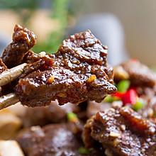 鲜蔬猪蹄汤配黑椒牛肉