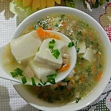 彩色豆腐羹