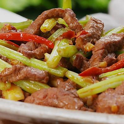 芹菜炒牛肉,鲜香嫩滑有三招