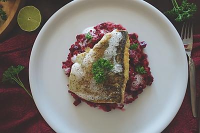 【安卡西厨】椰香梭子鱼意大利甜菜烩饭
