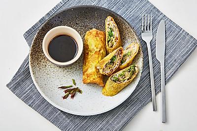饭合 | 鲜虾口蘑香椿卷儿