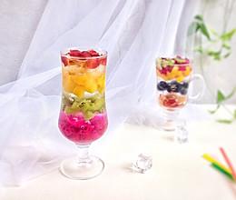 彩虹水果冰粉  一学就会的瘦身美肤甜品#夏日下饭菜#的做法