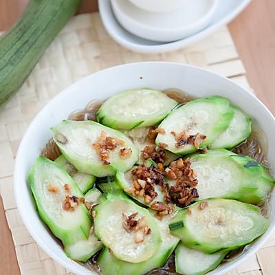 一招调出海鲜滋味---蒜茸粉丝蒸丝瓜