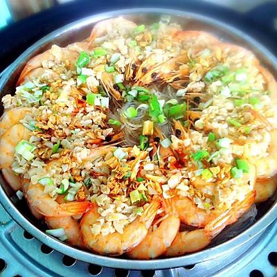 蒜蓉蒸虾粉丝