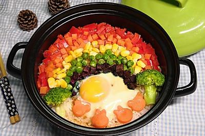 砂锅彩虹煲仔饭