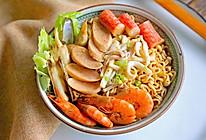 海鲜烩泡面#美的微波炉菜谱#的做法
