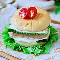 #秋天怎么吃#快手午餐肉黄瓜汉堡包的做法图解12
