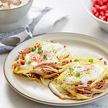 #秋天怎么吃#鸟巢土豆煎蛋 元气早餐