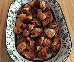 椒盐香煎小蘑菇的做法