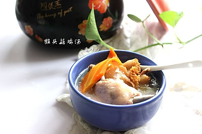 砂锅猴菇鸡汤
