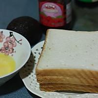 香煎牛油果三文治的做法图解1