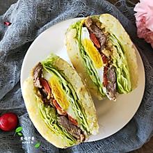 #夏日撩人滋味#随你选的米饭汉堡三明治~