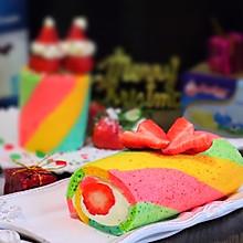 彩虹布丁蛋糕卷#安佳喜卷圣诞#