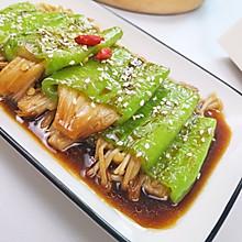 #换着花样吃早餐#虎皮尖椒金针菇,好吃又下饭。