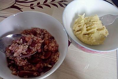 红豆红枣糙米粥
