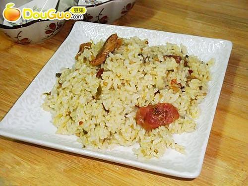 雪菜炒饭——电压力锅菜谱的做法