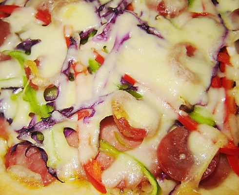 香肠批萨的做法