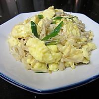金针菇炒鸡蛋的做法图解8