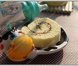 椰汁巧克力酱戚风卷的做法