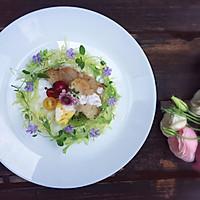 煎鳕鱼水果沙拉