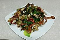 香菜炒蟹的做法