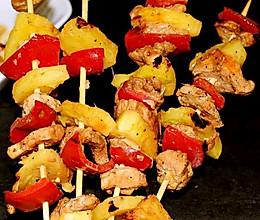 #餐桌上的春日限定#果蔬烤鸡肉串的做法