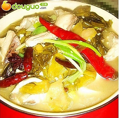 辣汤酸菜鱼片的做法