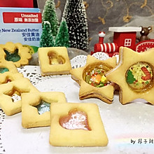 彩色玻璃心红糖饼干/摇摇乐饼干#安佳烘焙学院#