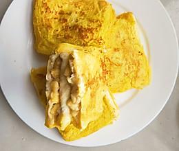 简单好吃又减肥的早餐  宝宝的最爱-----香蕉牛奶煎土司的做法
