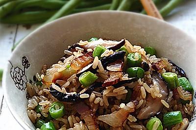 腊肉香菇炒糙米饭#美的初心电饭煲#