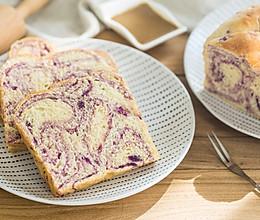手撕紫薯吐司的做法