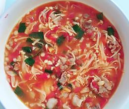 番茄羊肉金针菇汤的做法