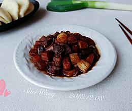 葱椒酸香焖鸭栗的做法