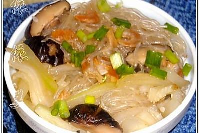 粉丝虾米节瓜煲