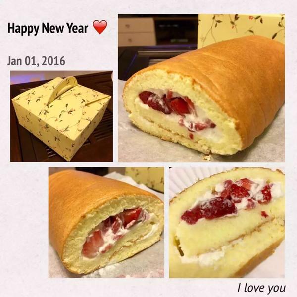 草莓卷蛋糕的做法
