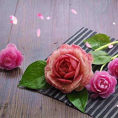 雕刻萝卜花